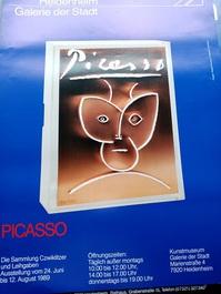1989 Plakat  Picasso Heidenheim Design Schweiger