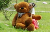 2 Meter Teddy XXL Teddybär 200 cm 2m Plüschtier Plüschbär Bär Ted Teddy Geschenk Frau Mädchen Girl Kind Kinder Dunkelbraun