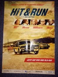 2012 Orginal  Film Plakat  A1  Hit and Run