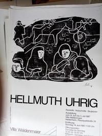 Ausstellungs Plakat  A1  Hellmuth Uhrig  1987