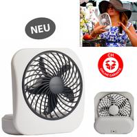 Batteriebetriebener Ventilator Fan Mobil Unterwegs Sommer Abkühlung Fan Büro Camping