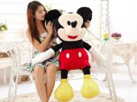 Disney Micky Maus XXL Plüschtier ca. 130cm Geschenk Mickey Mouse Plüsch Plüschfigur Geschenk Kind Junge TV