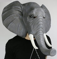 Elefanten Maske Elefante Elefant Elefantenmaske Tiermaske Schweiz Fasnacht Party Halloween Kostüm