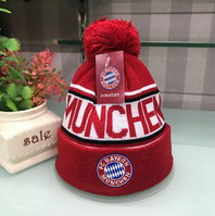 FC Bayern München Fan FCB Cap Beanie Winter Mütze Kappe Cap Rot Blau Kleidung Support
