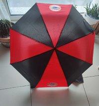 FC Bayern München Fan Regenschirm Taschenschirm Rot Schwarz FCB Accessoire Fanshop