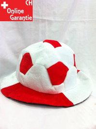 Fussball Hut Schweiz Rot Weiss Rotweiss Weissrot Fan Fussballkopf WM EM World Cup Public / Neu