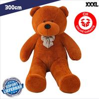 Gigantischer XXXL Plüsch Teddybär Bär Plüschbär Teddy Ted Dunkelbraun Plüschtier Kuscheltier Geschenk Kind Kinder Freundin XXL