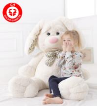 Grosser Plüschhase Hase Hasi Bunny Kaninchen Plüsch Plüschtier Kuschel Geschenk für Kind Kinder Freundin Frau Weiss