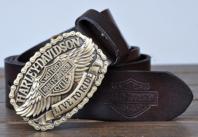 Harley Davidson Gürtel Echt Original Leder 3 Farben en Fan Neu Liebhaber Ihn