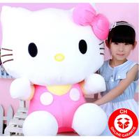 Hello Kitty Hellokitty Katze Plüsch Plüschtier XXL Plüschfigur Geschenk Mädchen Kind Kinder Kult Cat XXL 100cm Pink Rosa