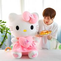 Hello Kitty Hellokitty Plüschtier Katze Herz Love Plüschtier 70cm Geschenk Kind Mädchen Liebe Love Herz