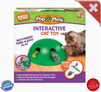 Interaktives Katzenspielzeug Pop N' Play Katzen Spielzeug Katz Maus und Federspielzeug bekannt aus der TV Werbung Indoor Zuhause Deheimu