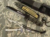 Jungle King 2 Überlebensmesser Survival Messer Jagdmesser Outdoor Lampe Schleudervorrichtung Kompass