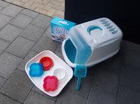 Katzen WC/Sand dazu/Futtergeschirr