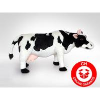 Kuh Plüsch Milchkuh Schwarz Weiss Schwarzweiss XXL 70cm Geschenk Deko Schweiz Milch Bauernhof