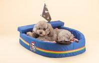 Kuschel Piratenschiff Hund Katze Schlafplatz Bett Hundebett Katzenbett Bettiji Schlafplatz Tierbett