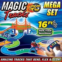 Magic Tracks Turbo RC Mega Race Set Rennbahn Glow LED RC Spielzeug