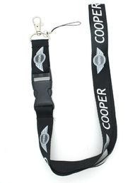 Mini-Cooper Mini Cooper  Auto Schlüsselband Schlüsselanhänger Anhänger Fan Sammler Schwarz