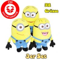 Minions 50cm 3er Minion Set Geschenk XL Fan Kind Kinder Zuhause Kult Gelb
