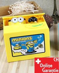 Minions Münz Geld Sparbox Spardose Sparschein Geschenk Kinder Münzen Sparen