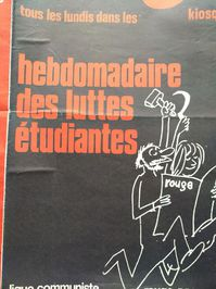 Orginal Plakat  A1  Ligue Communiste Revolutionnaire