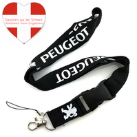Peugeot Auto Fan Anhänger Schlüsselanhänger Schlüssel Anhänger Geschenk Alltag Schwarz Band