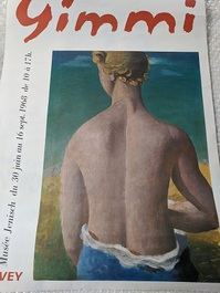 Plakat  1968 W. Gimmi  Waadt  Der entzueckende Ruecken
