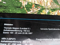 Plakat  A1  Mapper Landsat 5 Franken 1997