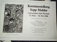 Plakat Sepp Mahler Bad Wurzach 88