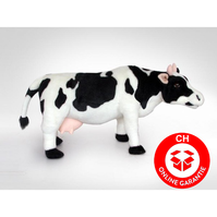 Plüsch Kuh Milch Plüsch Stofftier Kinderzimmer Dekoration Bauernhof 70cm XXL Milchkuh