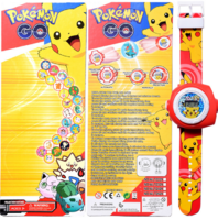 Pokémon Go Pikachu Projektor Armband Uhr Uhr Armbanduhr Geschenk Fan Pokemon Kind Kinder