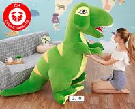 Riesen Plüsch Dino Dinosaurier Stofftier Tyrannosaurus Saurier Plüschdino XXL 210cm Geschenk T-rex Kind Kind Kinderzimmer