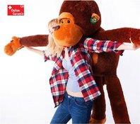 Riesen Plüschtier Aff ca. 130cm XXL Monkey Schlenkeraffe Kuscheltier Aff Plüsch Plüschaffe Geschenk Weihnachten Frau Freundin Kind Kinder