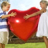 Riesenballon Herz Rot Riesen Ballon Liebe Love Valentinstag Hochzeit Frau Freundin 75cm XXL