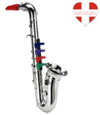 Saxophon Musikinstrument Spielzeug für Kinder Musik SILBER Instrument