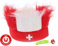 Schweiz Suisse Switzerland Schwiiz Fan Hut Stirnband in Schweizer Farben Flagge / Neu Support Nati Fussball EM Hockey WM Public Viewing