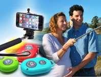 Selfie Stick Bluetooth Selfie Stange Self-portrait Monopod 3in1 Android Samsung Sony HTC iPhone iOS Foto Stick Auslöser Natel Handy Smartphone