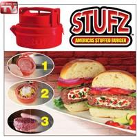 Stufz Gefüllte Hamburger Frikadellen Burger Presse Hamburgerpresse Burgerpresse gefüllt Käse aus den USA Schweiz