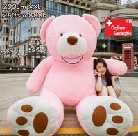 Teddybär Plüsch Bär Teddy Pink 200cm 260cm Geschenk XXL XXXL 2.0m 2.6m Frau Freundin Girl Mädchen Geburtstag Weihnachten Pink Rosa