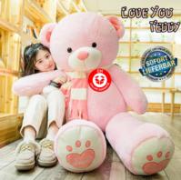 Teddybär Plüschbär Tedi Teddy Bär Plüschtier XXL Pink Rosa Liebe dich Love Love You Weihnachtsgeschenk Geburtstag Valentinstag Geschenk Frau Freundin Girl Mädchen 2m 2.0m 200cm
