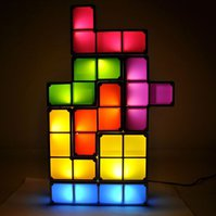 Tetris LED Leucht Lampe Neuheit Hingucker Fan Gadget Tetrislampe Geschenk Spiel Videospiel