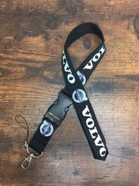 Volvo Fan Schlüsselband Anhänger Schlüssel Ausweis ID's XC60 90 XC70 S60 S90 V40 V60 V70 neu Karabiner Schlaufe