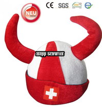 Wikinger Hut Schweiz Fan Cap Hut Mütze Fanartikel Kleidung Hopp Schwiiz Allez la Suisse Switzerland / Neu
