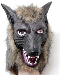 Wolf Maske Tiermaske Fasnacht Wallis Lustig Party