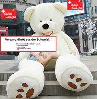 XXL Plüsch Riesenteddy Kuschel Geschenk Teddybär Eisbär Kuscheltier Plüsch Teddy weiss 200cm 260cm Geschenk Kind Kinder Freundin