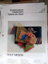 Zeitgenössische Kunst Plakat Rolf Nesch
